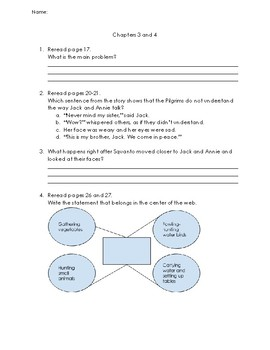 Magic Tree House- Thanksgiving on Thursday Comprehension Packet (Entire Book)