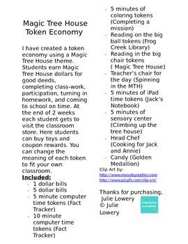 Magic Tree House Token Economy