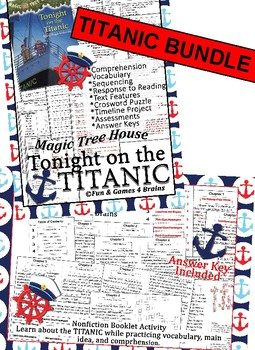 Magic Tree House Tonight on the Titanic Novel Study and Booklet Project