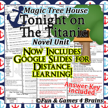 Magic Tree House - Tonight on the Titanic Novel Unit