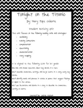 Magic Tree House Tonight on the Titanic Student Activity Unit