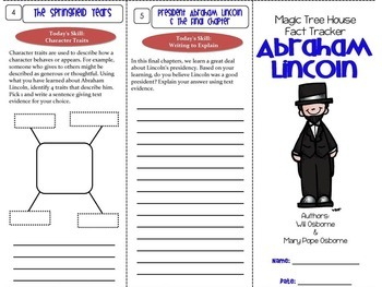 Abraham Lincoln Magic Magic Tree House Fiction & Nonfiction Paired Reading