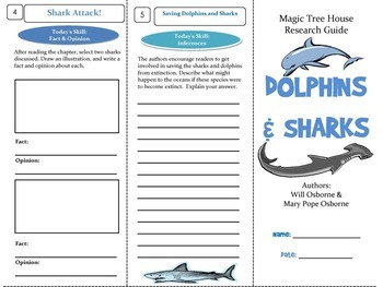 Dolphins & Sharks Magic Tree House Paired Reading Unit