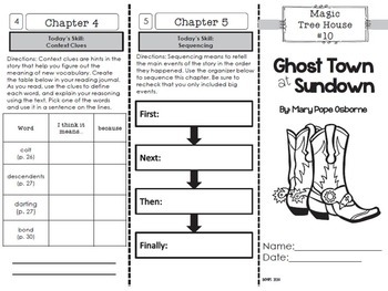 Ghosts Foldable Novel Study Unit
