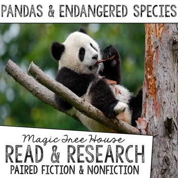 Pandas and Endangered Species Foldable Novel Study Unit
