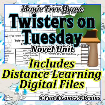 Magic Tree House - Twister on Tuesday Novel Unit -Vocab,comprehension,sequence