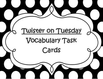 Magic Tree House Twister on Tuesday Vocabulary Task Cards