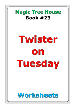 """Magic Tree House """"Twister on Tuesday"""" worksheets"""