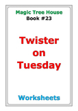"Magic Tree House ""Twister on Tuesday"" worksheets"