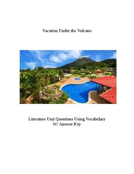 Magic Tree House Vacation Under the Volcano Literature Guide