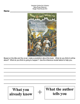 Magic Tree House Vacation Under the Volcano Novel Study