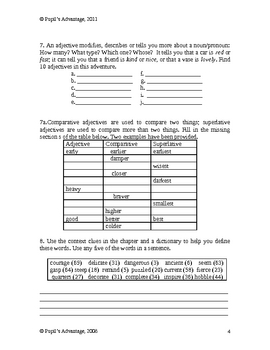 Magic Tree House Viking Ships at Sunrise Novel Study and Worksheet