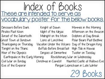 Magic Tree House Vocabulary Posters (29 Books)