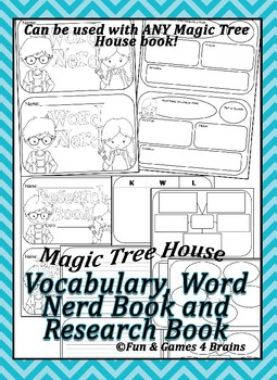 Magic Tree House Word Nerd and Research Booklets - Use with ANY MTH book!
