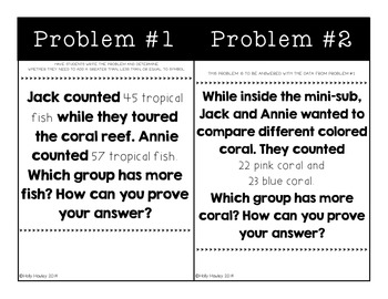 Magic Tree House Word Problems- Dolphins Before Daybreak