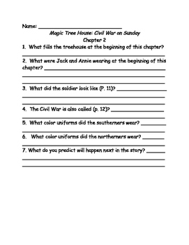 Magic Tree House comprehension questions Books 21-30