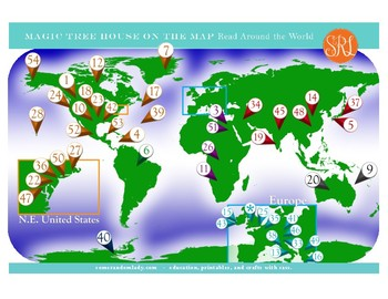 Magic Tree House on the Map - Read Around the World