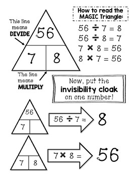 Magic Triangle Fact Family - Fact Fluency Mini Bundle - 4, 5, 6