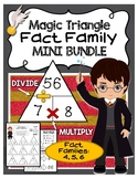 Magic Triangle Fact Family - Fact Fluency Mini Bundle - 4, 5, 6