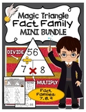 Magic Triangle Fact Family - Fact Fluency Mini Bundle - 7, 8, 9