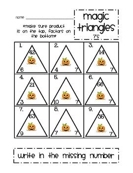 Magic Triangles: 7
