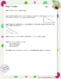 Magic Triangles Activity