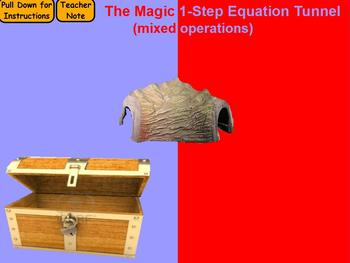 Magic Tunnel 1-Step Equations (mixed operations)