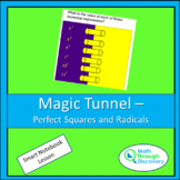 Algebra 1 - Magic Tunnel - Perfect Squares and Radicals