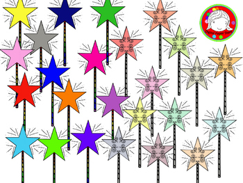 Magic Wands Clipart (Personal & Commercial Use)