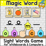 Magic Sight Words Game for SmartBoards & Computers - Back