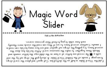 Magic Word Slider
