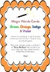 Magic Words Cards Green Orange Indigo Violet