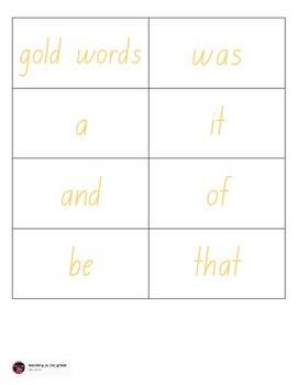 Magic Words (Rainbow Words)