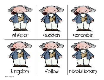 Magic Words- Read the Room Revolutionary War theme