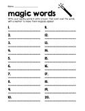 Magic Words Spelling