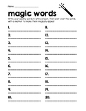 Magic Words Spelling