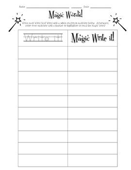 Magic Words: Word Work Station!