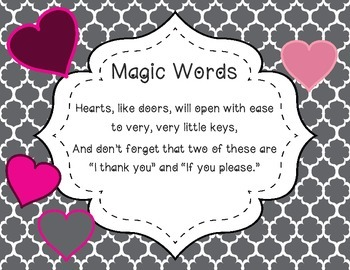 """""""Magic Words"""" a song for beginning ostinato"""