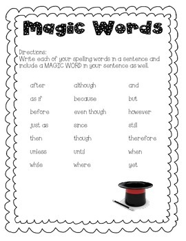 Magic Words for Better Sentences