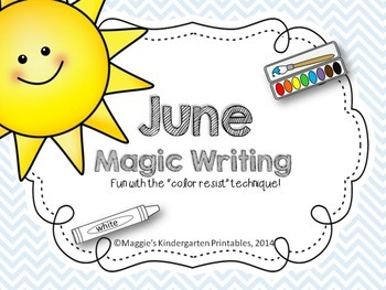 Magic Writing Center Activities for June