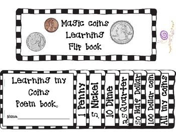 Magic coins flip book