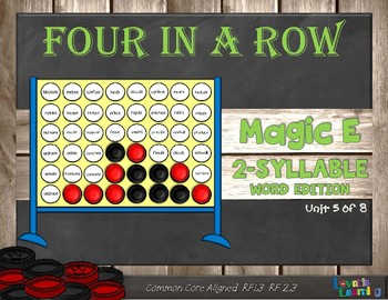 Magic E 2-Syllable Words: Four in a Row