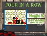 Magic E 2-Syllable Words: Four in a Row