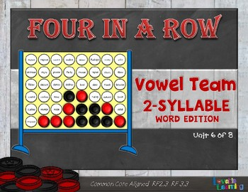 Vowel Team 2-Syllable Words: Four in a Row