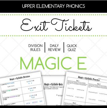 Magic e Exit Tickets