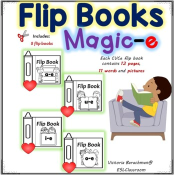 Magic-e /  4 Flip Books- 44 words