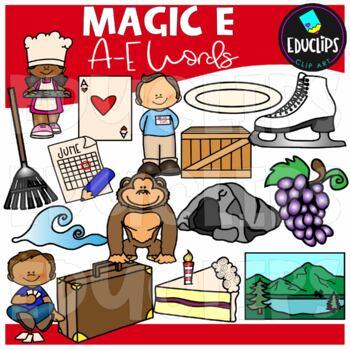 'Magic e' A-e Clip Art Bundle {Educlips Clipart}