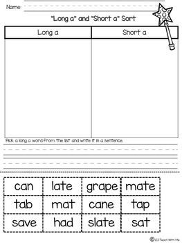 Magic e Activities for K-1