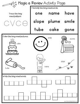 Magic e Activity Pages {CVCe Words}