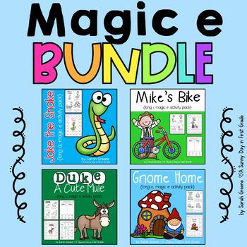 Magic e BUNDLED! {4 long vowel packs!}